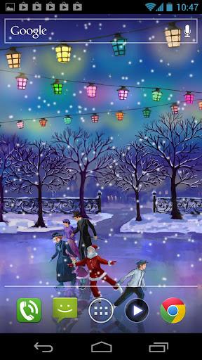 Christmas Rink Live Wallpaper screenshot 3