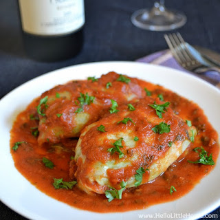 Moroccan-Spiced Vegetarian Cabbage Rolls.
