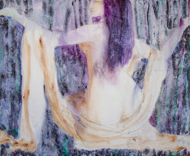 """Photo: Untitled2, 2nd wash, nighttime shot, Brenda Clews, 2013. 24"""" x 30"""" oil on stretched canvas."""