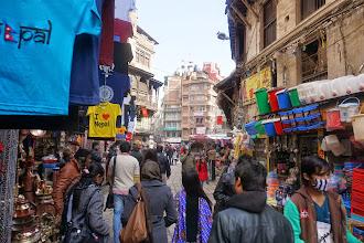 Photo: Approaching Ason Tole in Thamel area of Kathmandu
