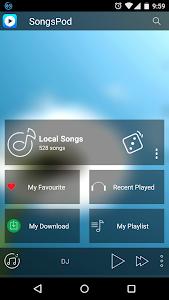 SongsPod Music Player screenshot 0
