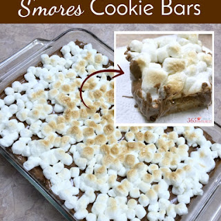 Easy S'mores Cookie Bars.