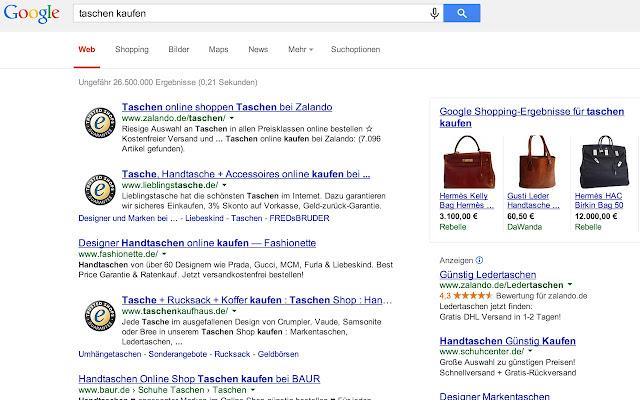 Extensión de Trusted Shops para Google Chrome