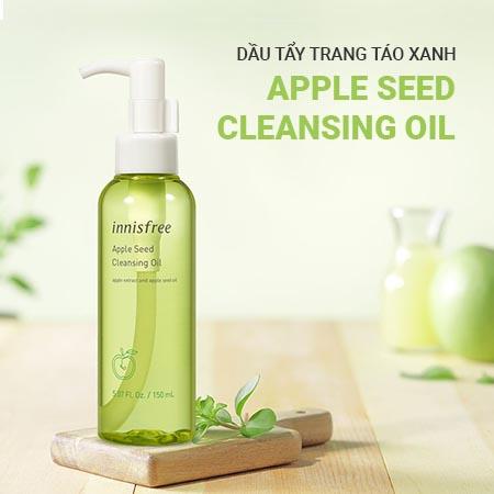 dầu tẩy trang cho da hỗn hợp thiên khô Innisfree Apple Seed Cleansing Oil