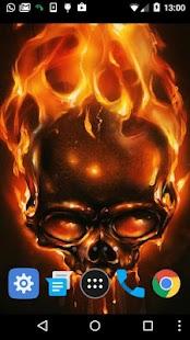 fire skulls live wallpaper - náhled