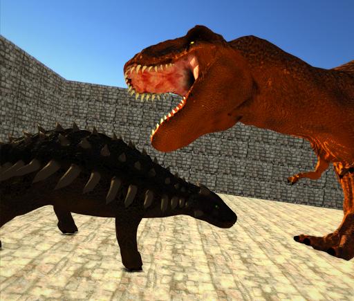 Dino Anky vs T-Rex Colloseum