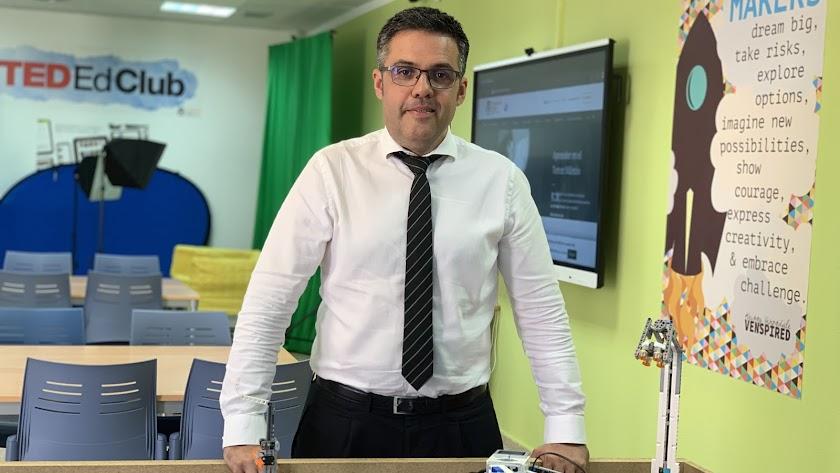 Francisco Tejeira Bújez, en el aula