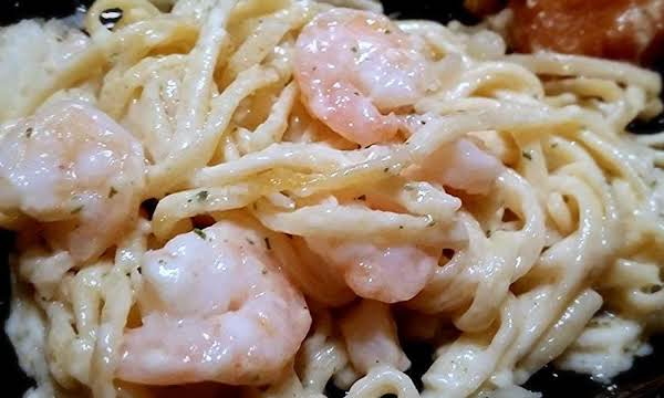 ~ Creamy Linguine & Shrimp ~