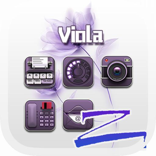 Viola Theme - ZERO Launcher 個人化 LOGO-玩APPs