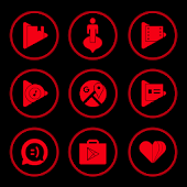 Red On Black Icons By Arjun Arora