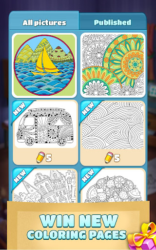 Coloring Book Blast - A Collapse & Color Game 1.0.0 mod screenshots 3