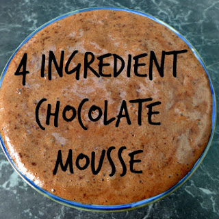 4 Ingredient Chocolate Mousse.
