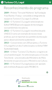 Calculadora Turismo CO₂ Legal screenshot 1