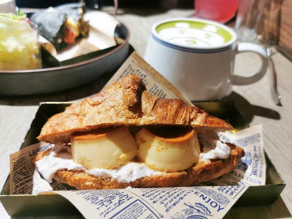 文青風手作甜點-漫拾,芋頭控看過來必點芋泥可頌,不限時咖啡廳,近台北車站/京站百貨