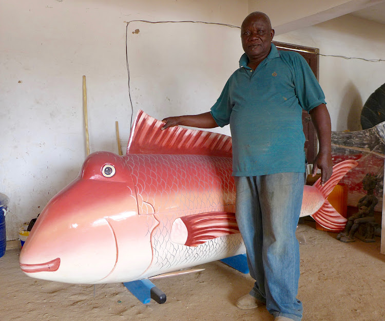Paa Joe, aka Joseph Ashong, is world-renowned his fantasy coffins, Accra