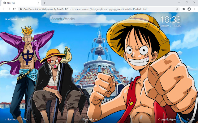 One Piece Anime Wallpapers New Tab