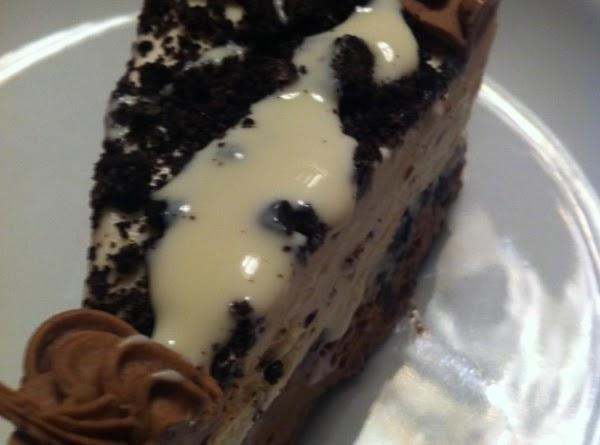 Slice and enjoy this refreshing ice cream cake