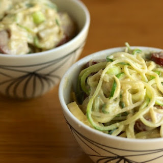 Creamy Zoodles with Sausage (Dairy-Free).
