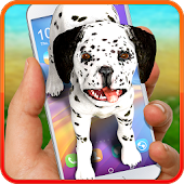 Dog on screen – Dalmatian. Prank app.