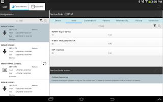 Screenshot of SAP CRM Service Manager