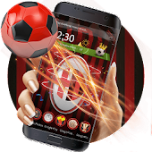 3D Milan Football Red theme