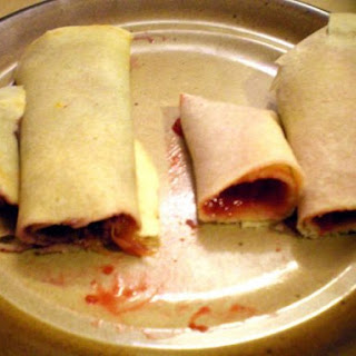 Crepes with Raspberry Plum Filling.
