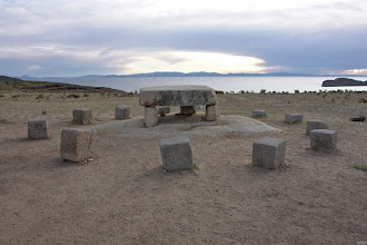 Photo: Only this place shows megalithic construction. The large block is local stone, the smaller ones are andesit from about 100km distance.