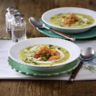Potato Soup with Smoked Salmon and Horseradish