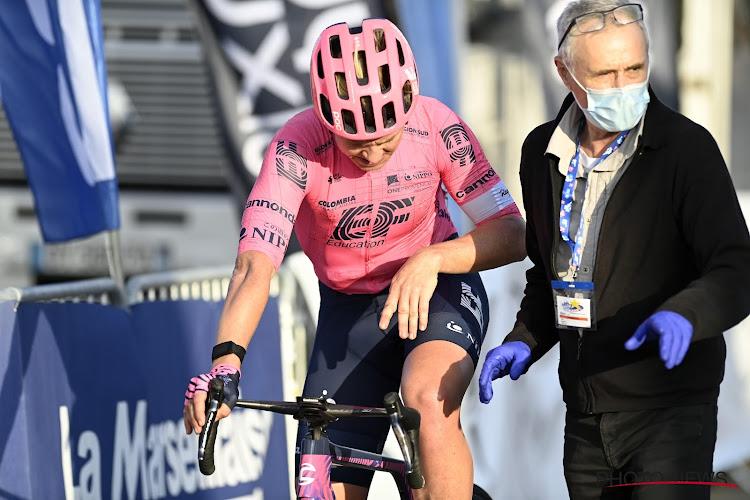 Michael Valgren rijdt weg in het slot van zijn concurrenten en mag zo zegevieren in de Ronde van Toscane