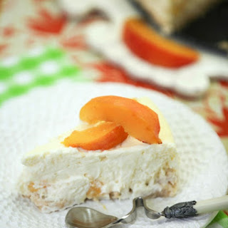 Lowfat Peach Cheesecake #SundaySupper