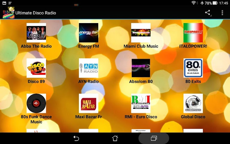 android Ultimate Disco Radio Screenshot 6
