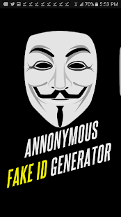 Annonymous Fake ID Generator - náhled