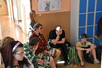 Photo: Den živých jazyků (kmenová učebna třídy 2. A, jazyková učebna J3, učebna výtvarné výchovy – středa 4. duben 2012).