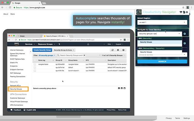Clouductivity Navigator for AWS