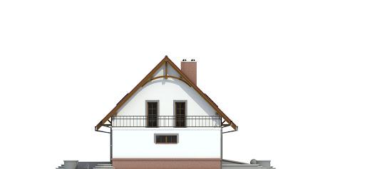Sosnówka II z garażem 1-st. bliźniak A-BL2 - Elewacja lewa