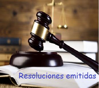 LISTADO DE LAS RESOLUCIONES EMITIDAS POR LA PRODHAB