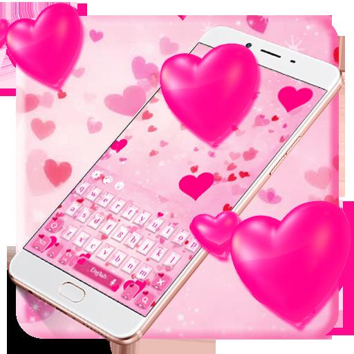 Pink Love keyboard Theme