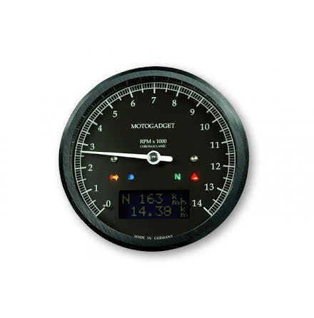 motogadget motogadget motoscope classic rev counter dark edition 14.000 RPM