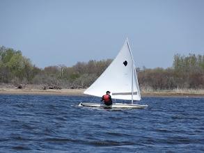 Photo: Jim sailing to windward