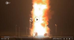 Feuerschein, Waffentest. Bild aus Video.