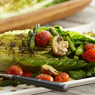 Grilled Romaine & Vegetable Salad with Balsamic Herb Vinaigrette