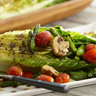 Grilled Romaine & Vegetable Salad with Balsamic Herb Vinaigrette.