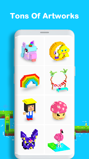 Voxel - 3D Color by Number & Pixel Coloring Book screenshot 5