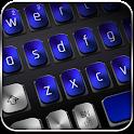 Black Blue Metal Keyboard icon