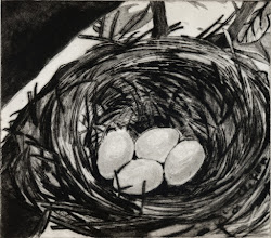 Photo: Contemplate, 7 x 8, Drypoint