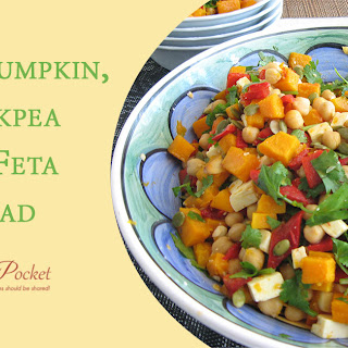 Roast Pumpkin Chickpea Feta Salad.