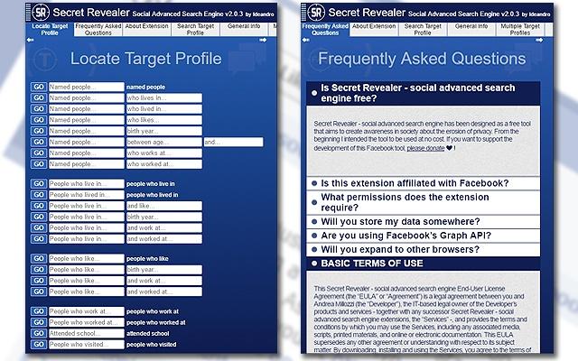 Secret Revealer Social Advanced Search Engine