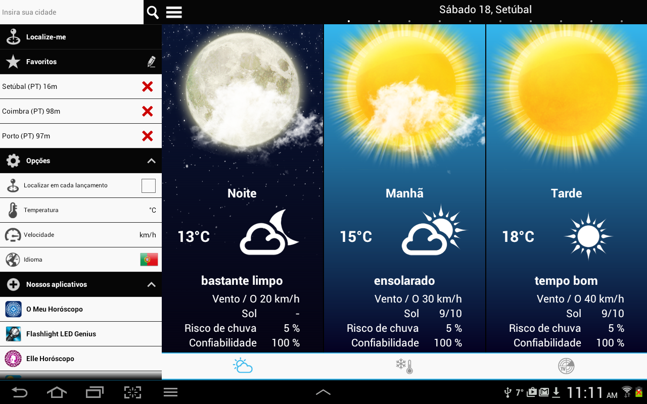 Weather for Portugal- screenshot