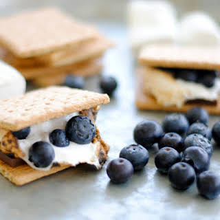 Simple Blueberry S'mores.