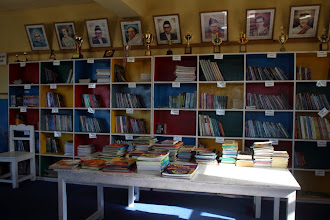 Photo: All the books kindly donated by Rupa, a friend of ours, and the Prices, another family of friends.